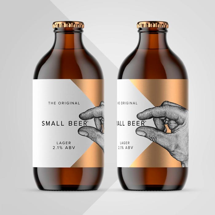 Пиво, Дизайн этикетки, Дизайн упаковки, Великобритания, Small Beer Brew Co, Kingdom & Sparrow