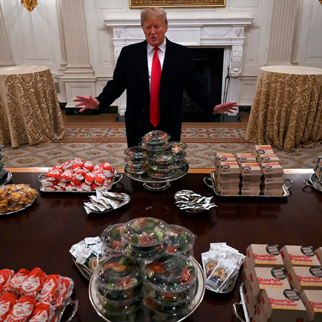 Трамп, США, McDonald's, Burger King